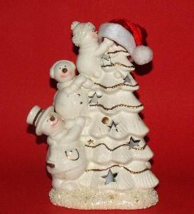 snowman tree hat